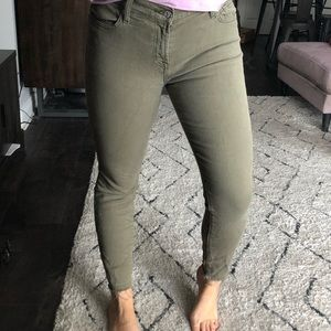7 for all mankind green skinny jeans size 29